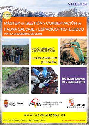 MÁSTER EN GESTIÓN Y CONSERVACIÓN DE FAUNA SALVAJE Y ESPACIOS PROTEGIDOS